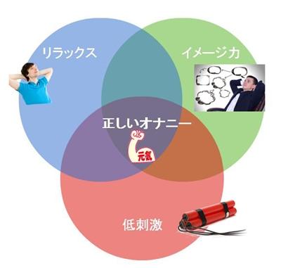 正しいオナニー3つのポイント図